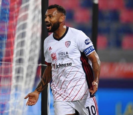 esultanza gol Joao Pedro, Cagliari-Sampdoria