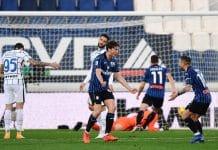esultanza gol Miranchuk, Atalanta-Inter