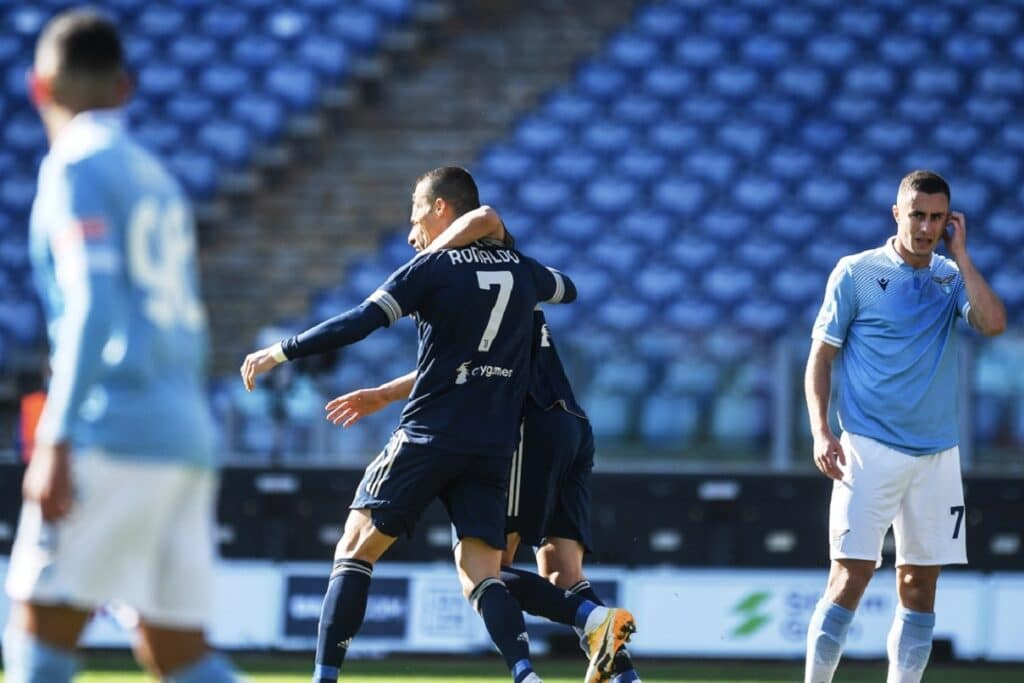 esultanza gol Ronaldo, Lazio-Juventus