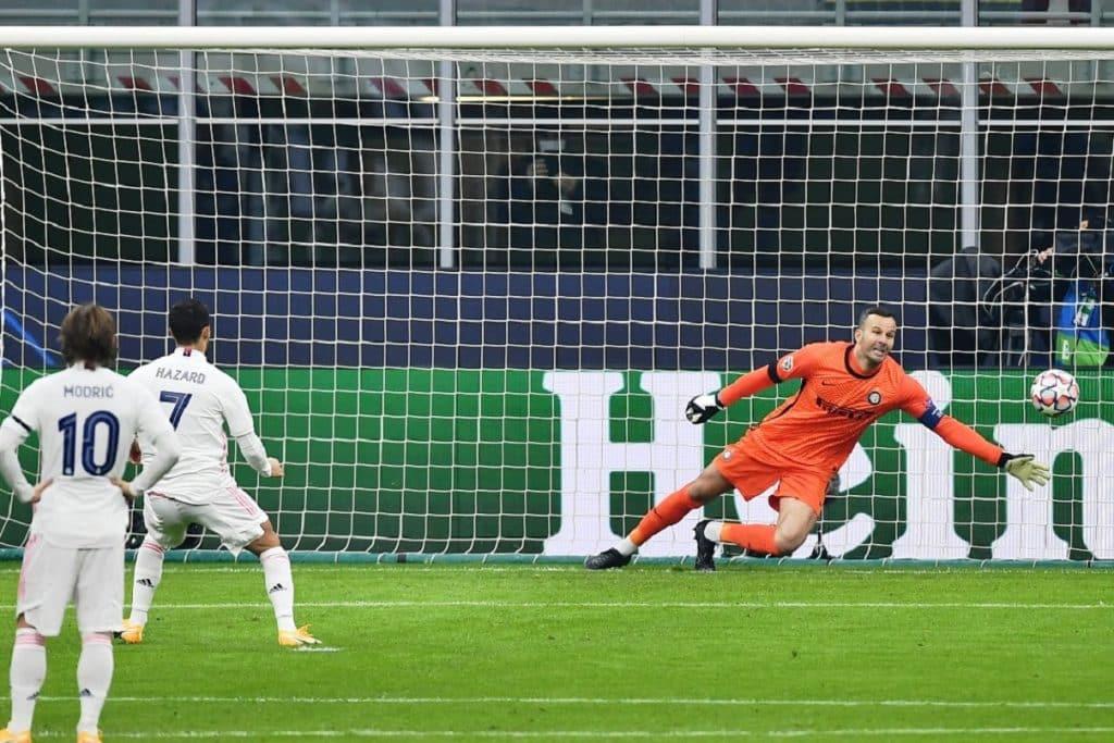 gol Hazard, Inter-Real Madrid