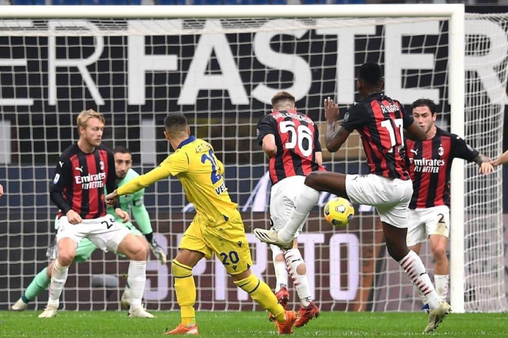 gol Zaccagni, Milan-Verona