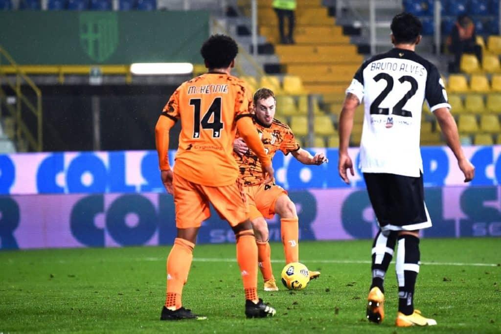 gol Kulusevski, Parma-Juventus