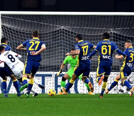 gol Marin, Verona-Cagliari