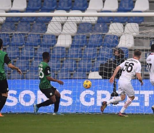 gol Saelemaekers, Sassuolo-Milan