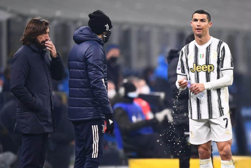 Ronaldo-Pirlo durante Inter-Juventus