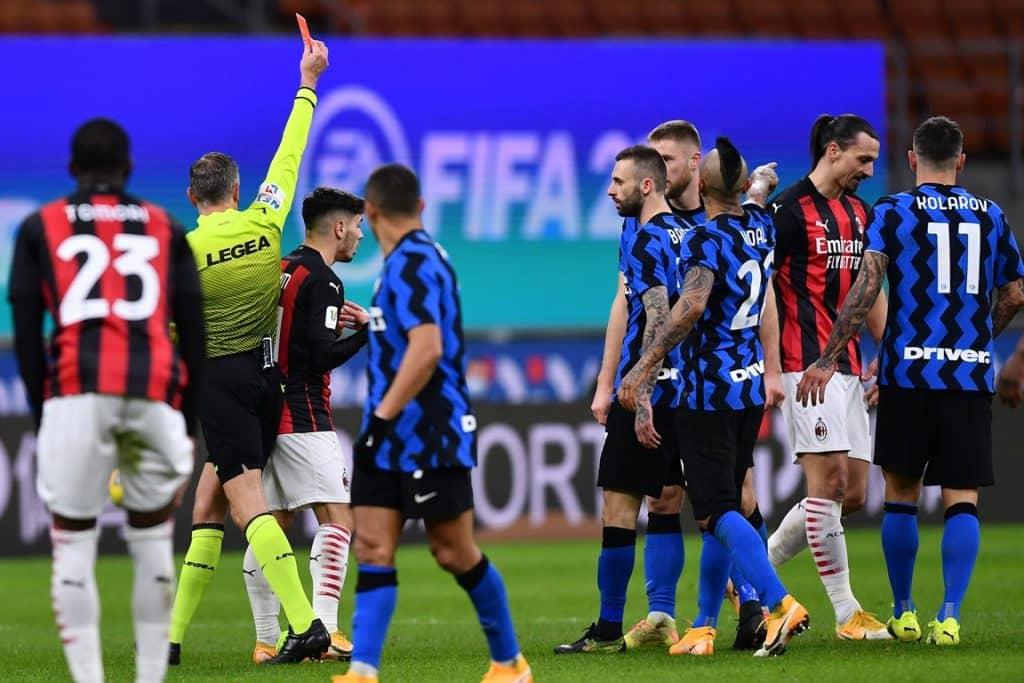 espulsione Ibrahimovic, Inter-Milan