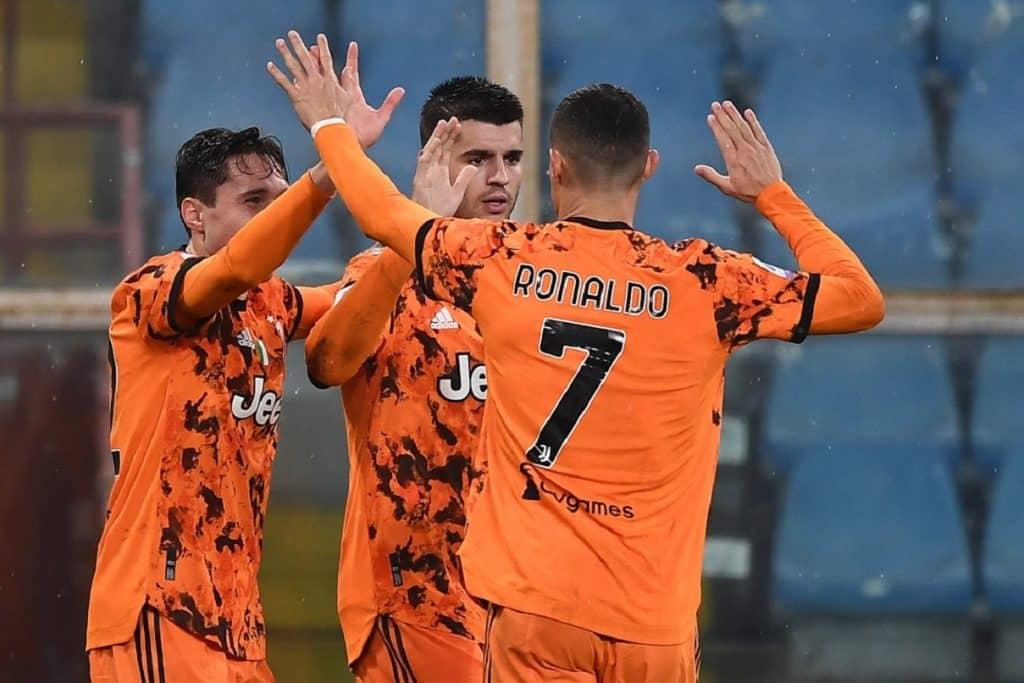 esultanza gol Chiesa, Sampdoria-Juventus