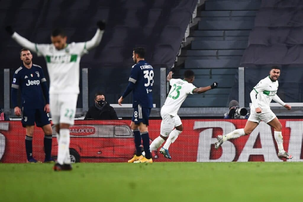esultanza gol Defrel, Juventus-Sassuolo