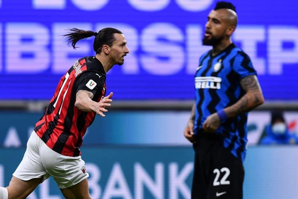 esultanza gol Ibrahimovic, Inter-Milan Coppa Italia