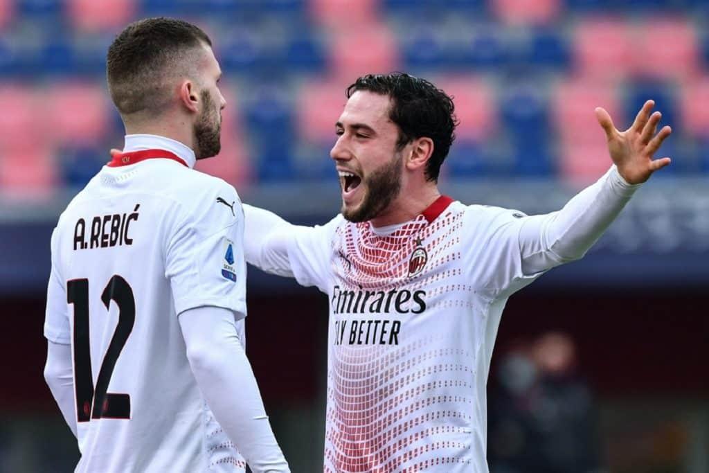 esultanza gol Rebic, Bologna-Milan