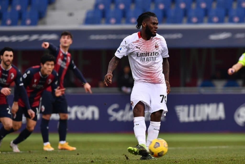 gol Kessie, Bologna-Milan