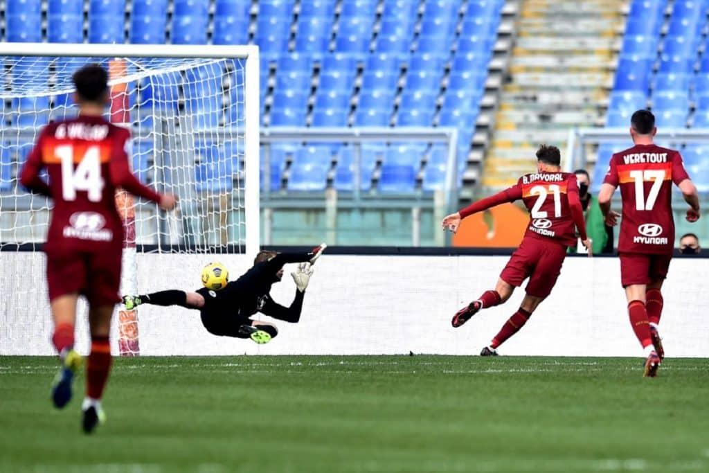 gol Mayoral, Roma-Spezia