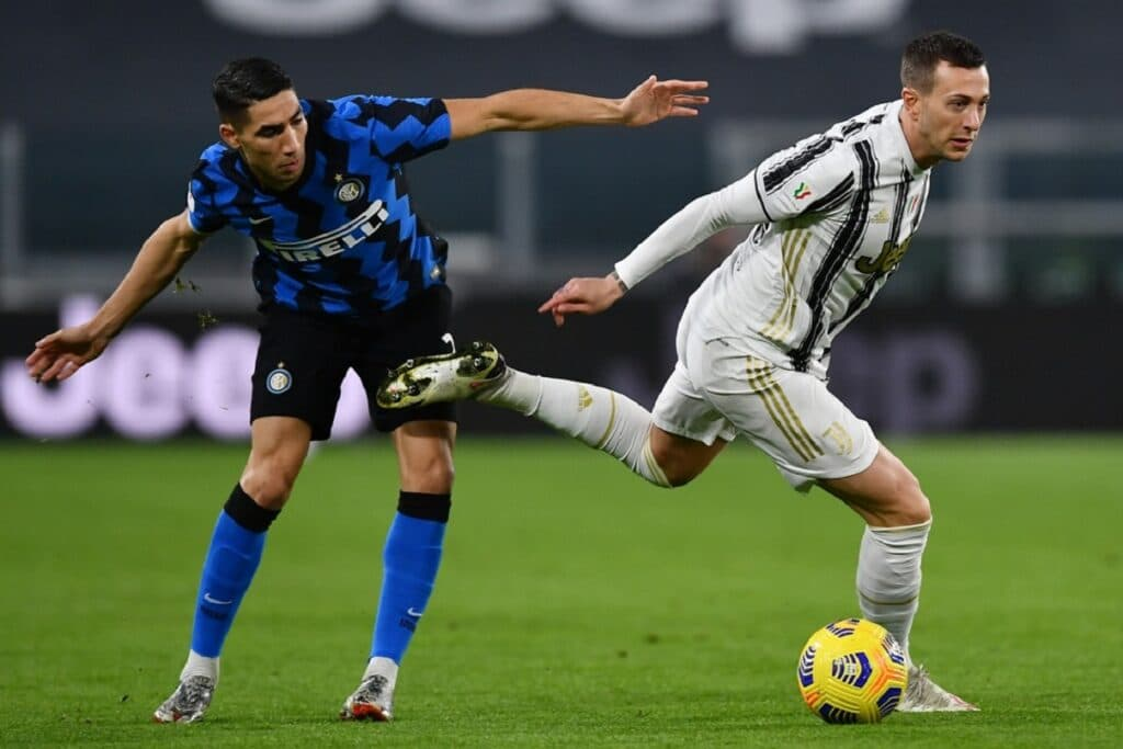 Bernardeschi-Hakimi, Juventus-Inter