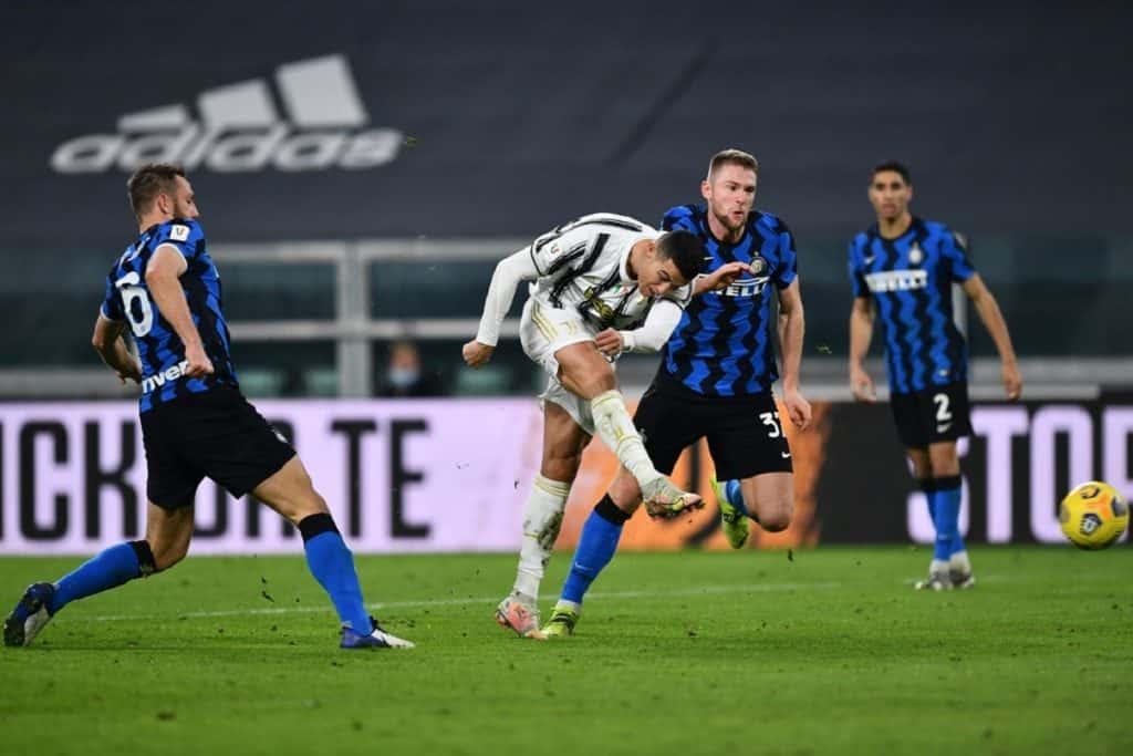 Ronaldo, durante Juventus-Inter Coppa Italia