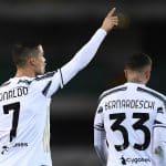 esultanza gol Cristiano Ronaldo, Verona-Juventus