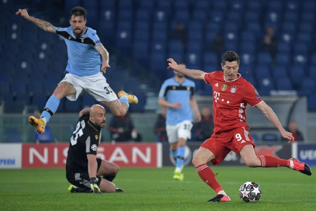 gol Lewandowski, Lazio-Bayern Monaco