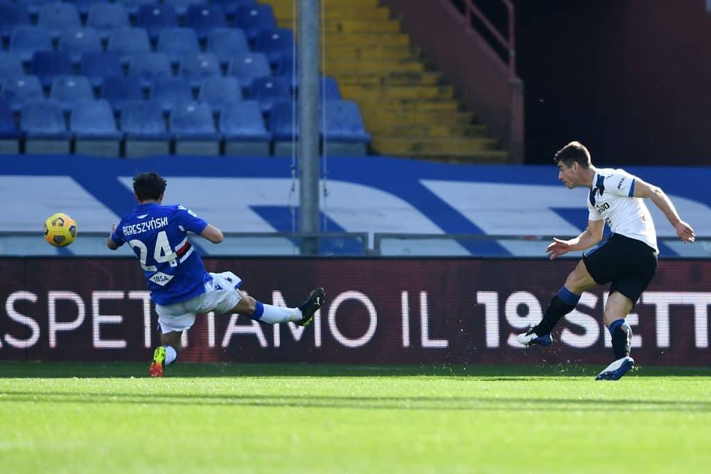 gol Malinovski, Sampdoria-Atalanta