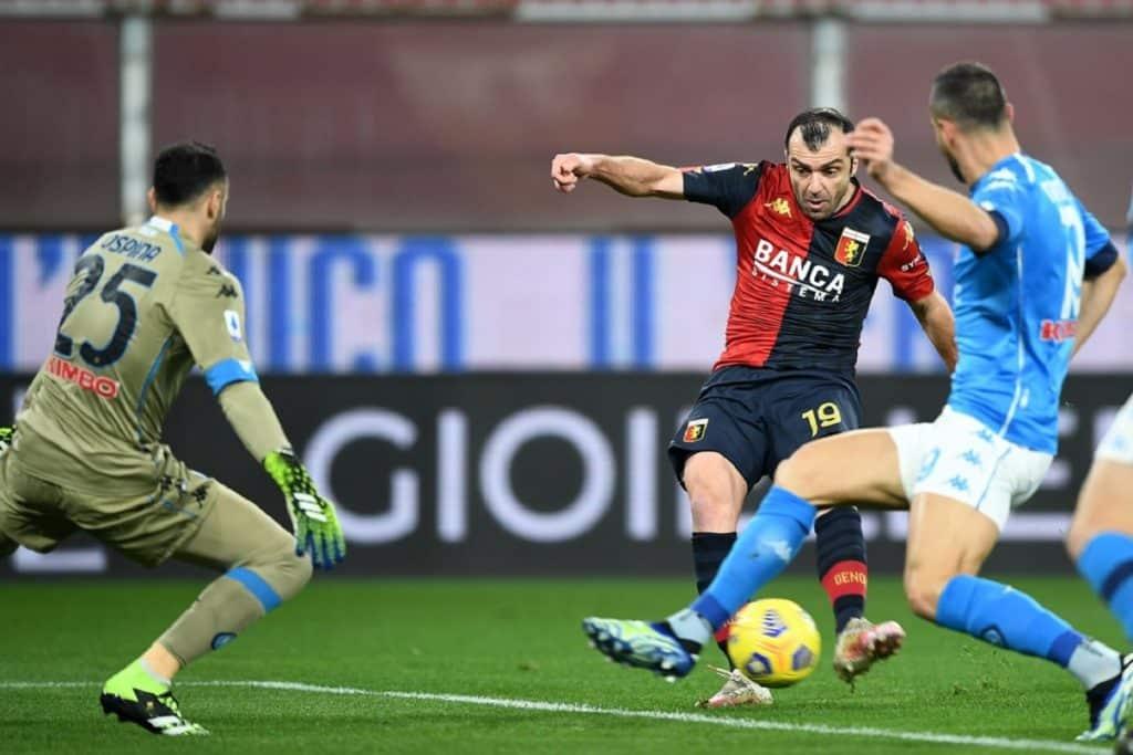 gol Pandev, Genoa-Napoli