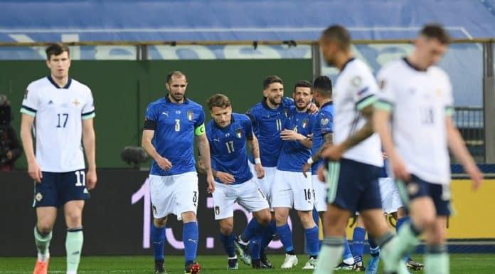 esultanza gol Berardi, Italia-Irlanda del Nord
