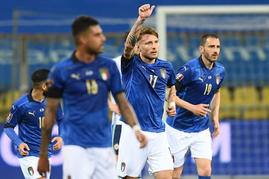 esultanza gol Immobile, Italia