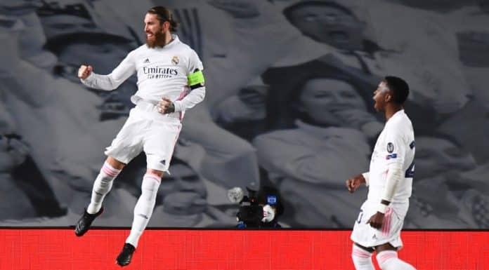 esultanza gol Ramos, Real Madrid