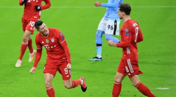 esultanza gol Robert Lewandowski, Bayern Monaco