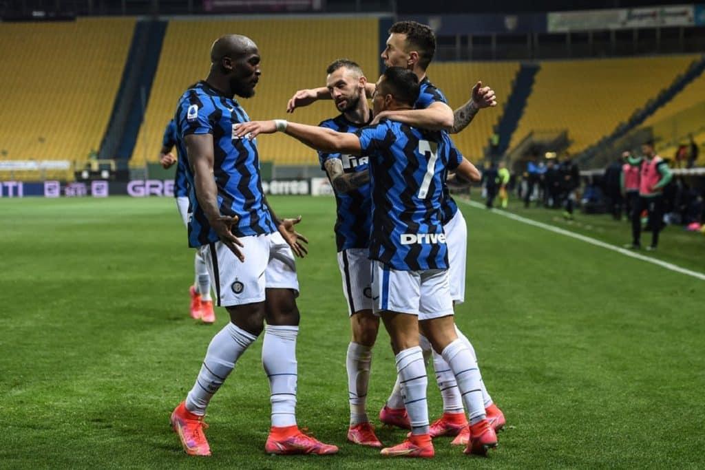 esultanza gol Sanchez, Parma-Inter