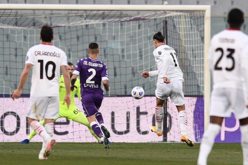gol Ibrahimovic, Fiorentina-Milan