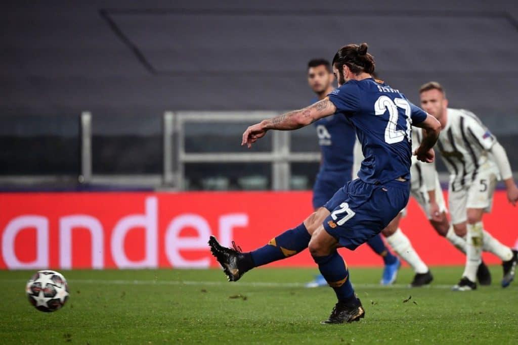 gol Sergio Oliveira, Juventus-Porto