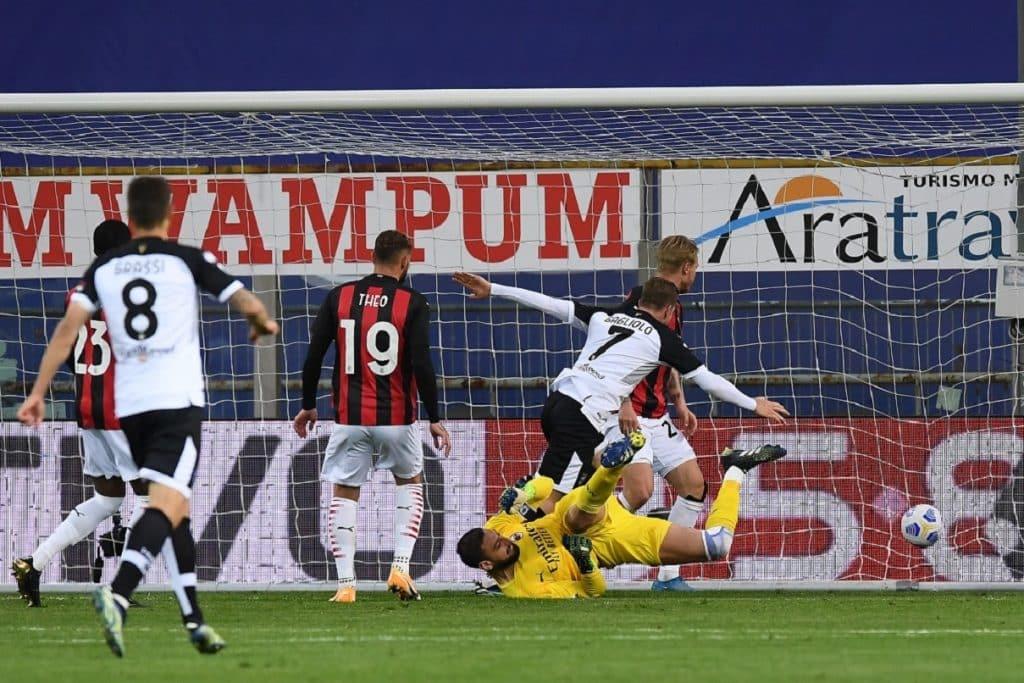 gol Gagliolo, Parma-Milan