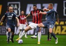 Ibrahimovic-Glik, Milan-Benevento