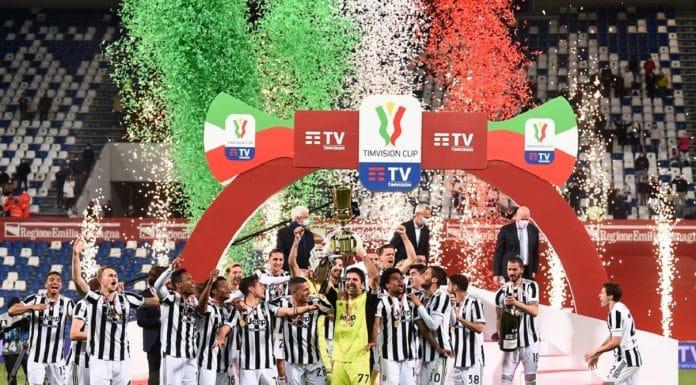 esultanza Juventus Coppa Italia 2021