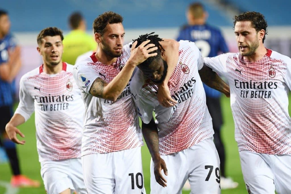 esultanza gol Kessie, Atalanta-Milan