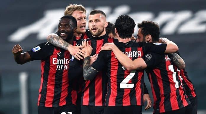 esultanza gol Rebic, Milan