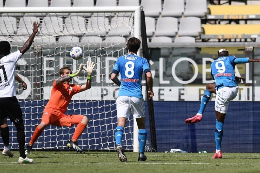 gol Osimhen, Spezia-Napoli