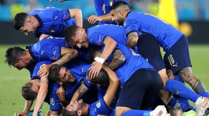 esultanza Italia contro la Svizzera