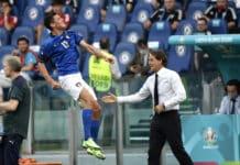 esultanza gol Pessina, Italia-Galles