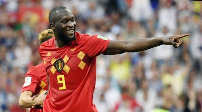 esultanza gol Romelu Lukaku, Belgio