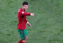 esultanza gol Ronaldo, Portogallo-Francia