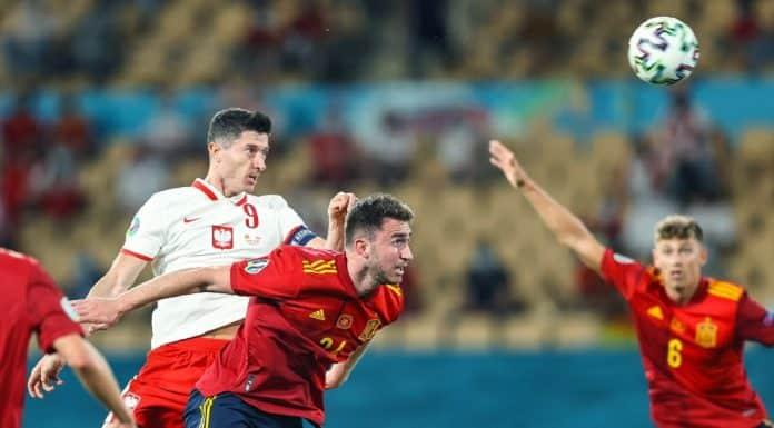 gol Lewandowski, Spagna-Polonia