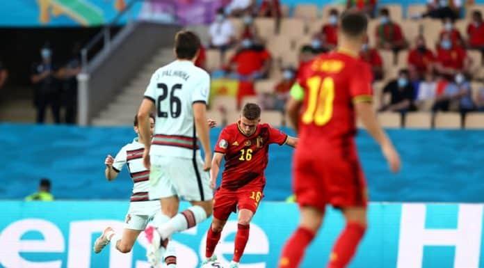 gol Thorgan Hazard, Belgio-Portogallo
