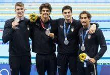 Miressi, Ceccon, Zazzeri e Frigo, staffetta 4x100m stile libero