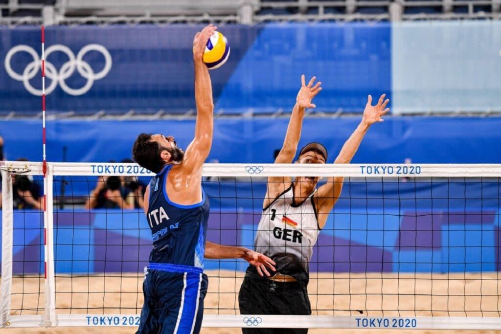 Nicolai, Italia-Germania Beach Volley - Olimpiadi Tokyo