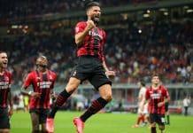 esultanza gol Giroud, Milan-Cagliari