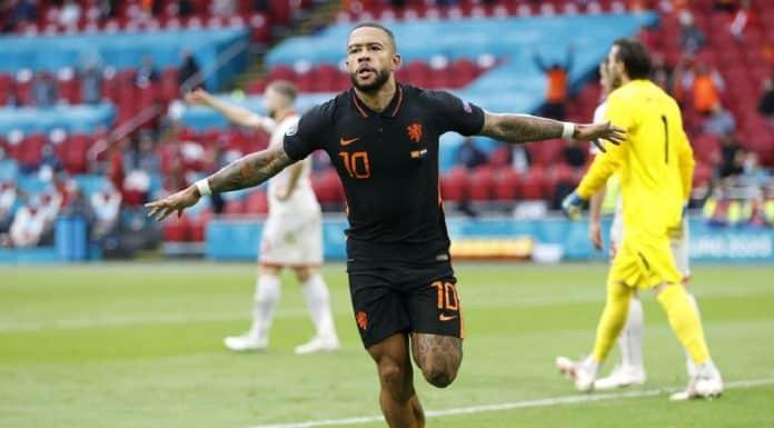 esultanza gol Memphis Depay, Olanda