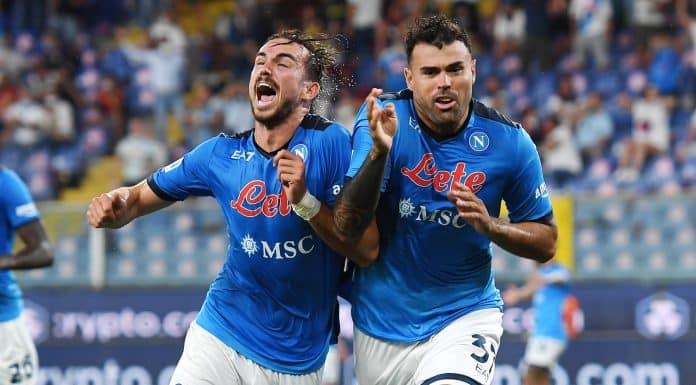 esultanza gol Petagna, Napoli