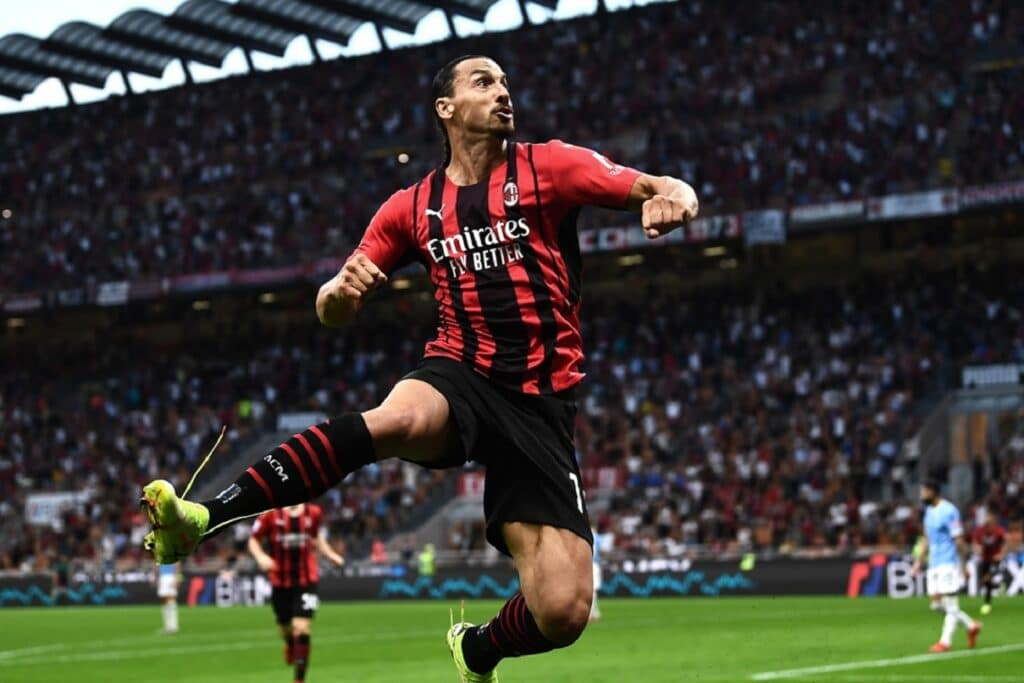 esultanza Ibrahimovic, Milan-Lazio