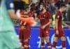 esultanza gol Abraham, Roma-Udinese