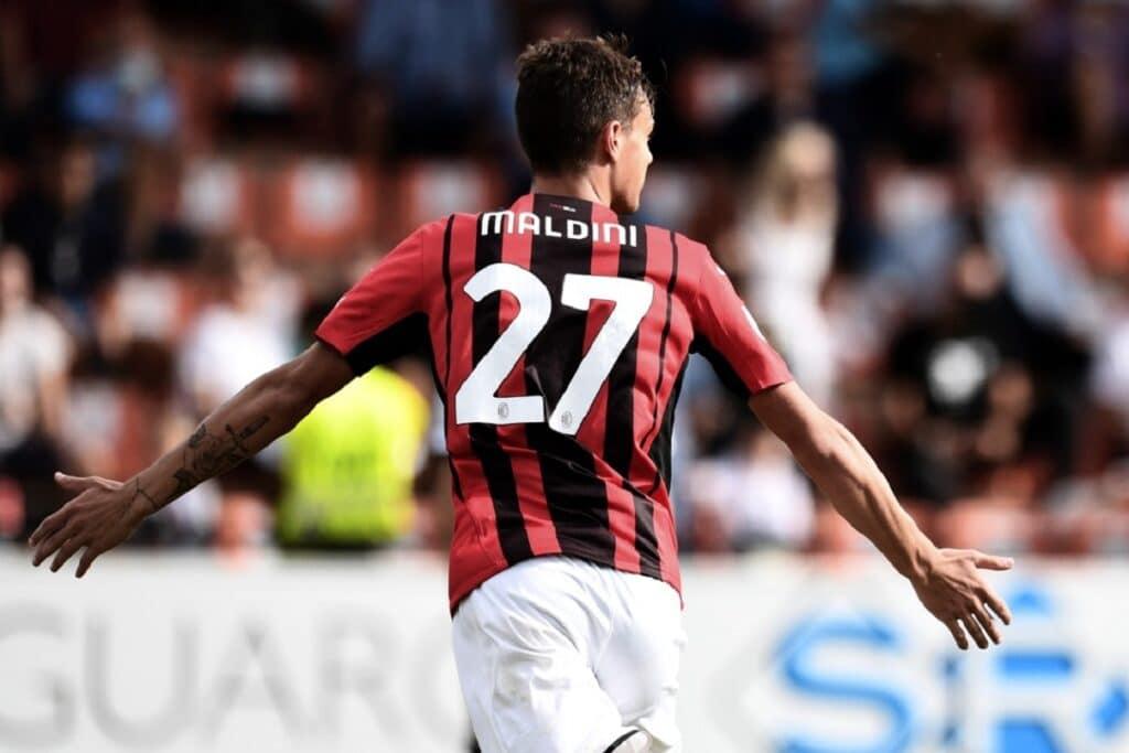 esultanza gol Daniel Maldini, Spezia-Milan