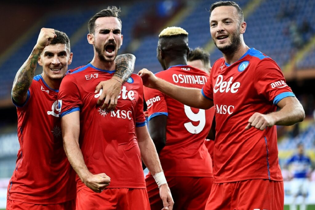 esultanza gol Fabian Ruiz, Napoli